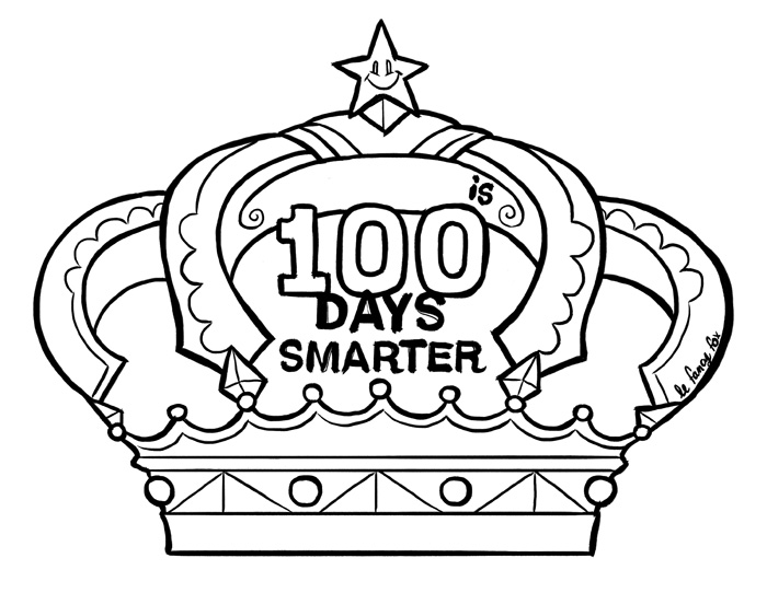 100th Day Of School Crown Template Image collections - template ...