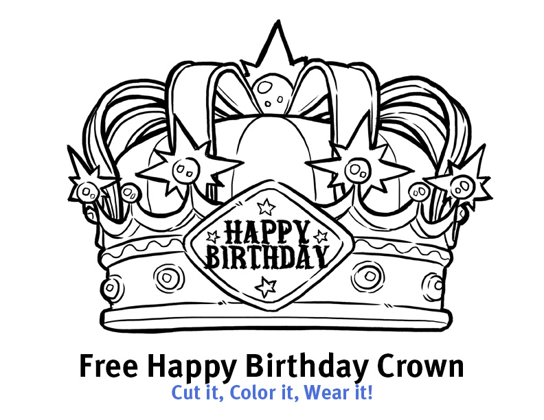 Happy birthday bundle crowns no homework pass and for Happy birthday crown template